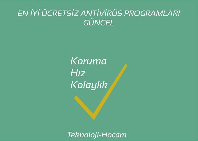En İyi Ücretsiz Antivirüs Programları 2021