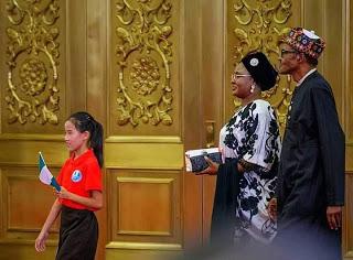 President Buhari and Aishat Buhari