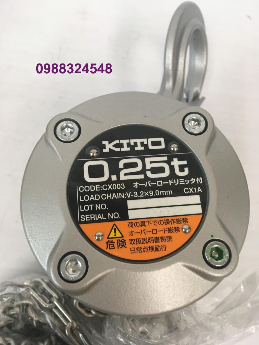 Pa lăng kéo tay Kito CX003 250kg