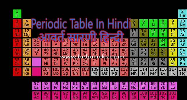 Periodic Table In Hindi PDF