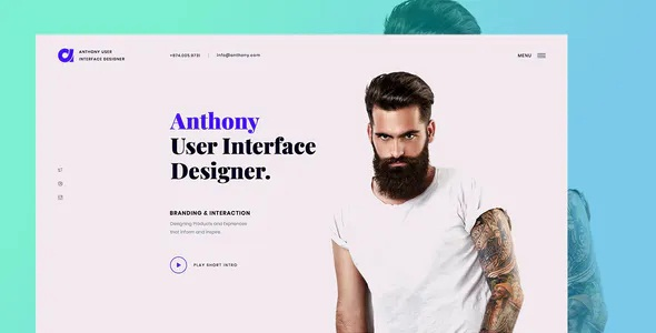 Best Designer Portfolio Landing Template