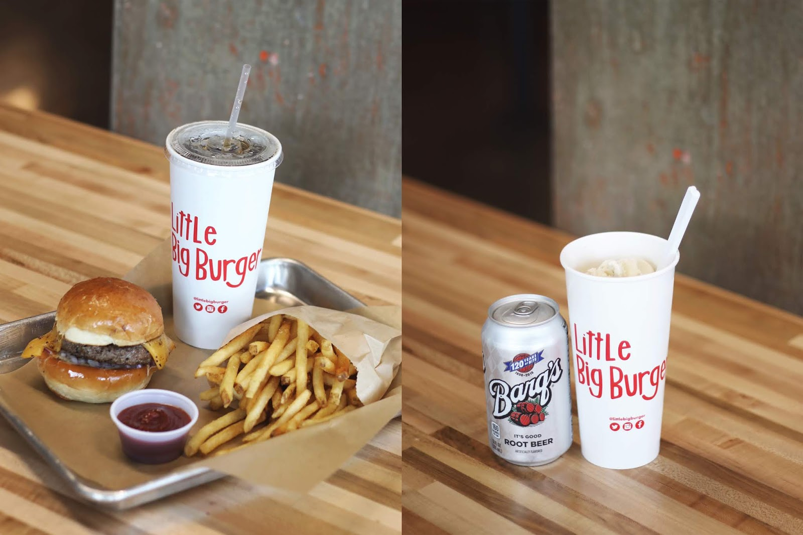 little big burger austin, cheeseburger, fries, rootbeer float, austin texas, cheeseburger in austin, where to eat in austin