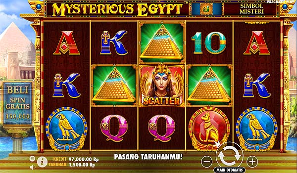 Main Slot Gratis Indonesia - Mysterious Egypt (Pragmatic Play)