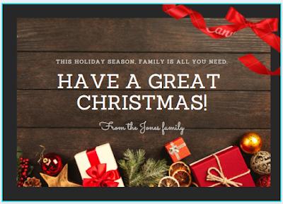 Biglietto di auguri: regali di Natale