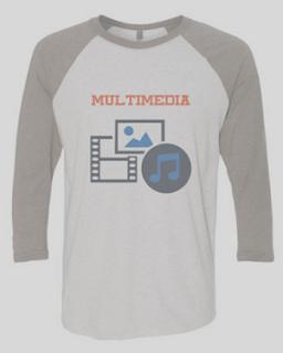 Contoh desain kaos kelas jurusan multimedia lengan panjang