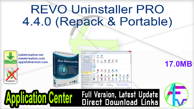 REVO Uninstaller PRO 4.4.0 (Repack & Portable)