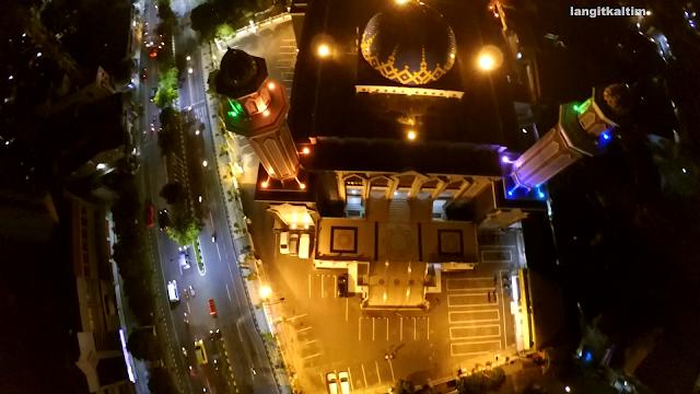 Foto Udara Mesjid Agung At Taqwa Kota Balikpapan