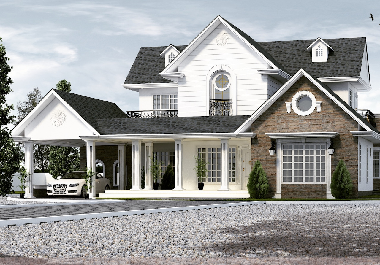 35 lakhs Budget 4 bhk colonial style residence