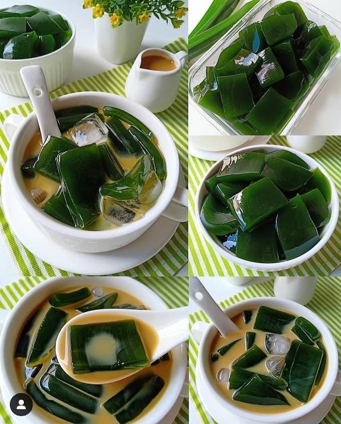 Resep Segar Jelly Cincau Pandan