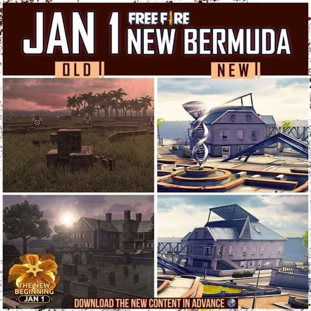 Free Fire Remastered Bermuda map available from 1st January, 2021