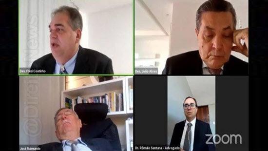procurador dorme sessao julgamento desembargadores risada