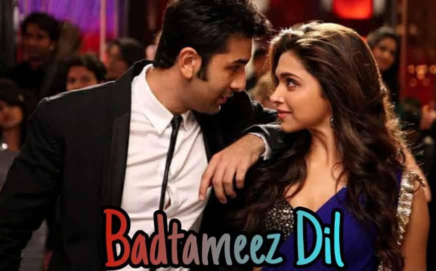 Benny Dayal song Badtameez dil lyrics from Yeh Jawaani Hai Deewani movie song