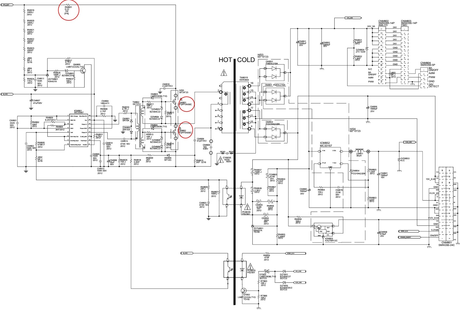 Bn44 00195 Smps Circuit Diagram  U2013 For Samsung Syncmaster