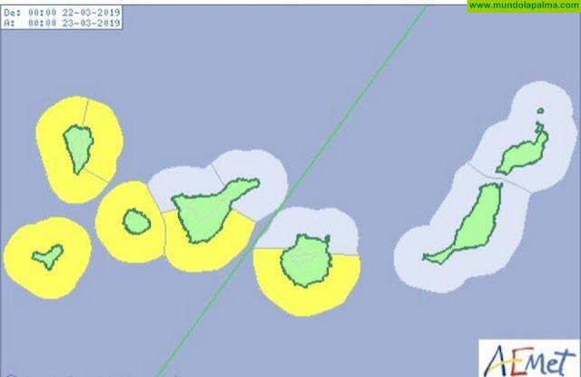 Avisos amarillos por viento y fenómenos costeros a partir de mañana viernes