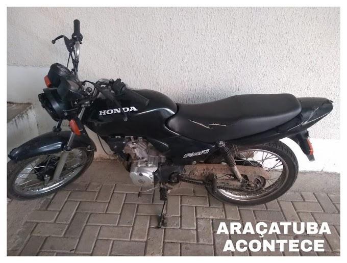 PM recupera moto furtada no Natal em Araçatuba