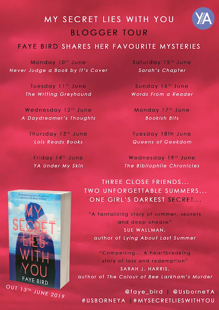 My Secret Lies With You by Faye Bird book blog tour graphic