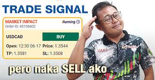 USD/CAD Trade Signal Buy (FXStreet Market Impact) pero naka SELL ako
