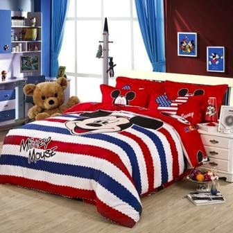 Bed cover dan sprei motif mickey mouse-9
