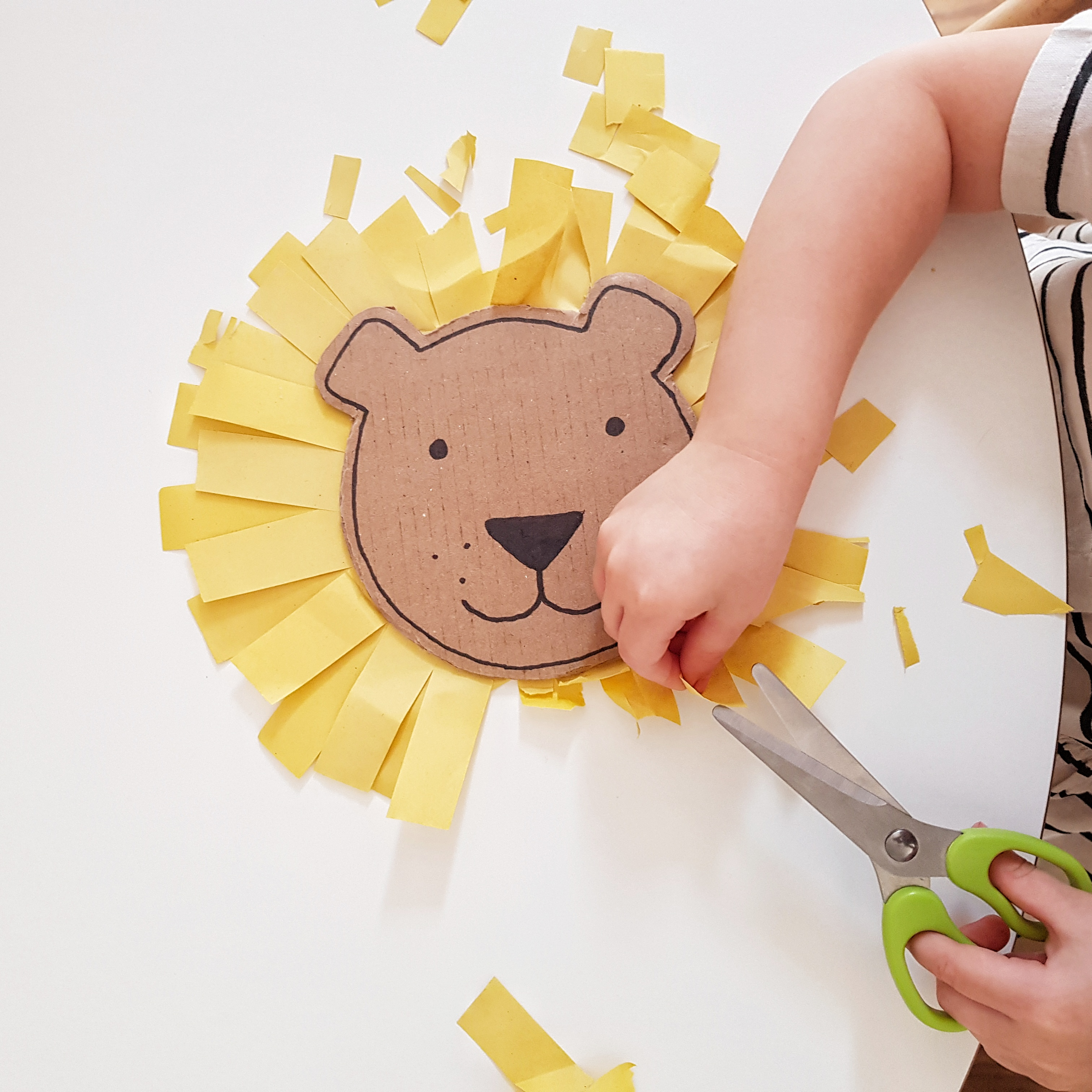 cutting cardboard craft