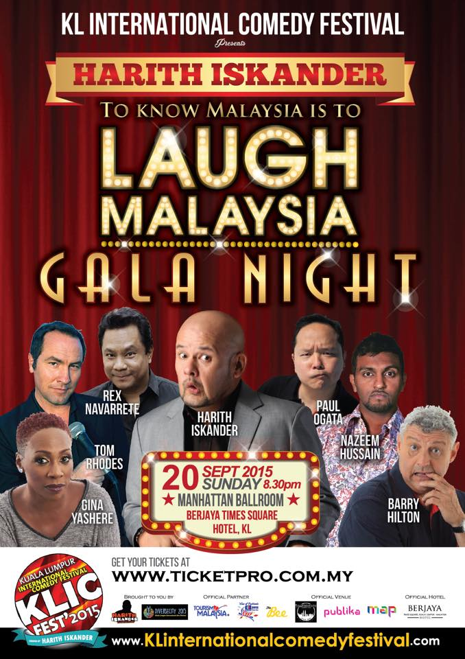 KL International Comedy Festival 2015; KLICFest 2015; Ong Als; KLICFest2015 Gala Night; Stand Up Comedy; Asia Stand Up Comedy; Adibah Noor; Korean Comedy; Gina Yashere; Paul Ogata; Jonathan Atherton; Barry Hilton; Tom Rhodes; Rex Navarrete; Nazeem Hussain; Crack House Comedy; International Stand Up Comedy; Best Comedian; World Top Comedians; World Top STand Up COmedians