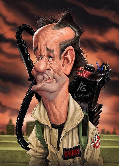 Bill Murray por Anthony Geoffroy