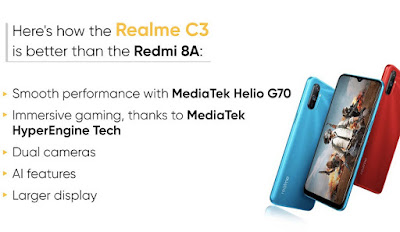 realme-c3-vs-redmi-8a-specs-performance-Comparison