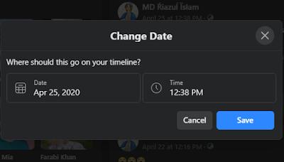 ফেসবুক পোস্টের ডেট চেঞ্জ করুন ! How To Change Fb Post Date