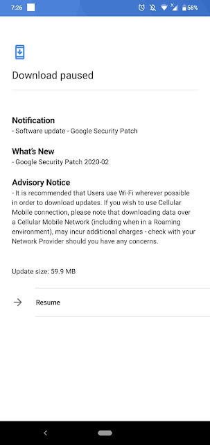 Nokia 3.2 receiving February 2020 Android Security Patch