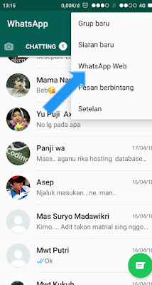 Chating whatsapp via pc