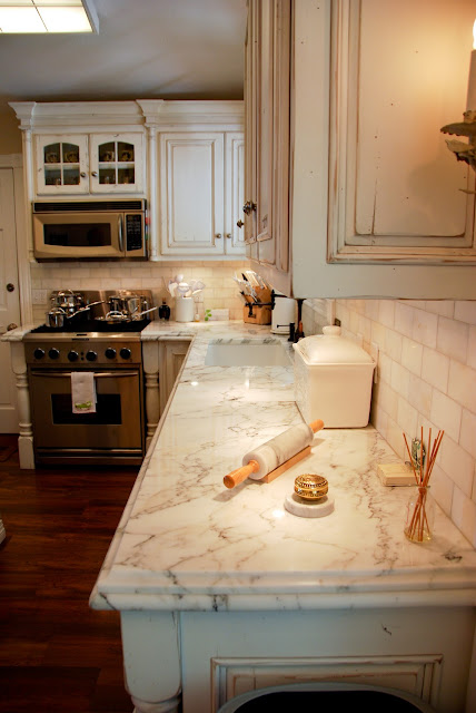 The Granite Gurus Calacatta Gold Marble Kitchen