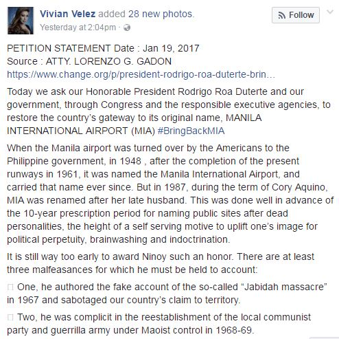 People Are Petitioning the Duterte Administration to Bring Back the Old Name of NAIA! READ HERE!