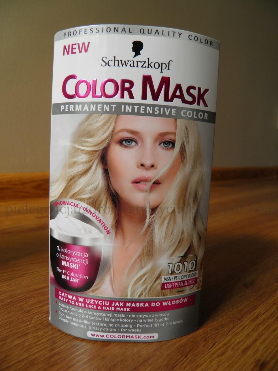 Farba do włosów Schwarzkopf Color Mask 1010 jasny, perłowy blond. Blog, opinie.