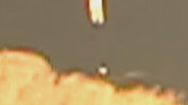 Snapshot from the transformed UFO video over Arizona.