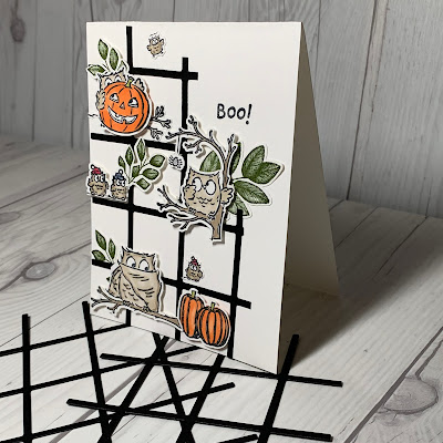 Owl scene using Stampin' Up! Have a Hoot Stamp Set