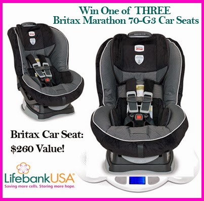 #Win one of THREE Britax Marathon car seats in the LifeBank USA #giveaway!