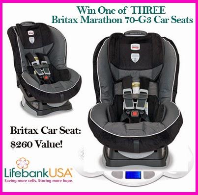 #Win one of THREE Britax Marathon car seats in the LifeBank USA #giveaway!