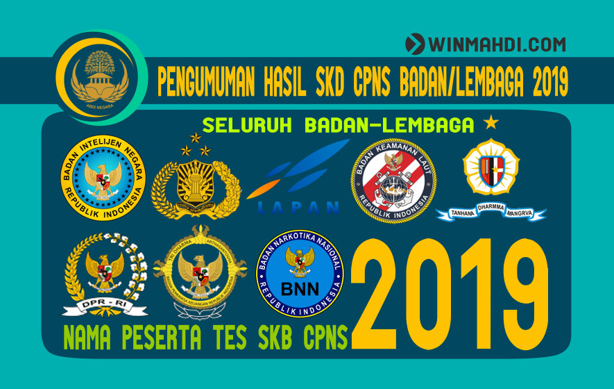 PENGUMUMAN HASIL SKD DAN NAMA PESERTA SKB CPNS 2019
