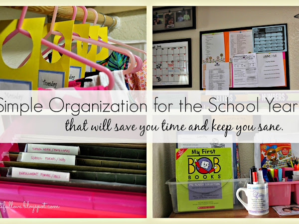 Simple Organization for the School Year
