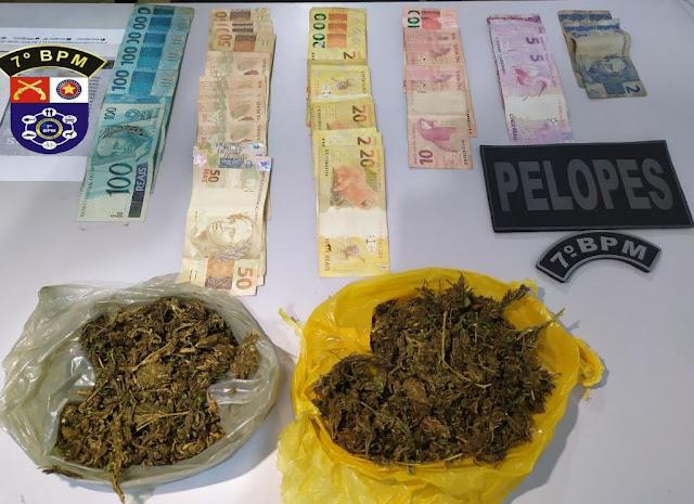 Em Santana do Ipanema, polícia prende homens por tráfico de drogas