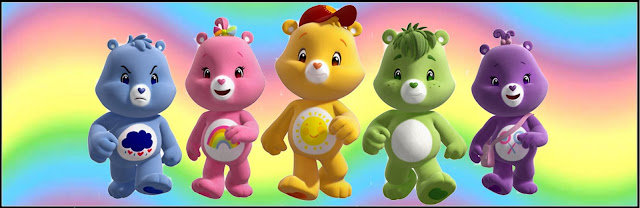 Care Bears Party Free Printable Labels.