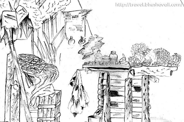 Mylapore maada veethi live sketching