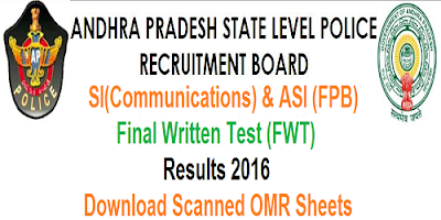 AP Police SI & ASI FWT Results 2016