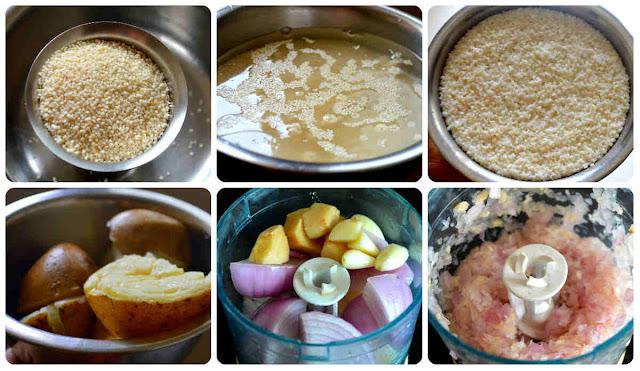 Millet Aloo Tikki/ Varagarisi potato cutlet