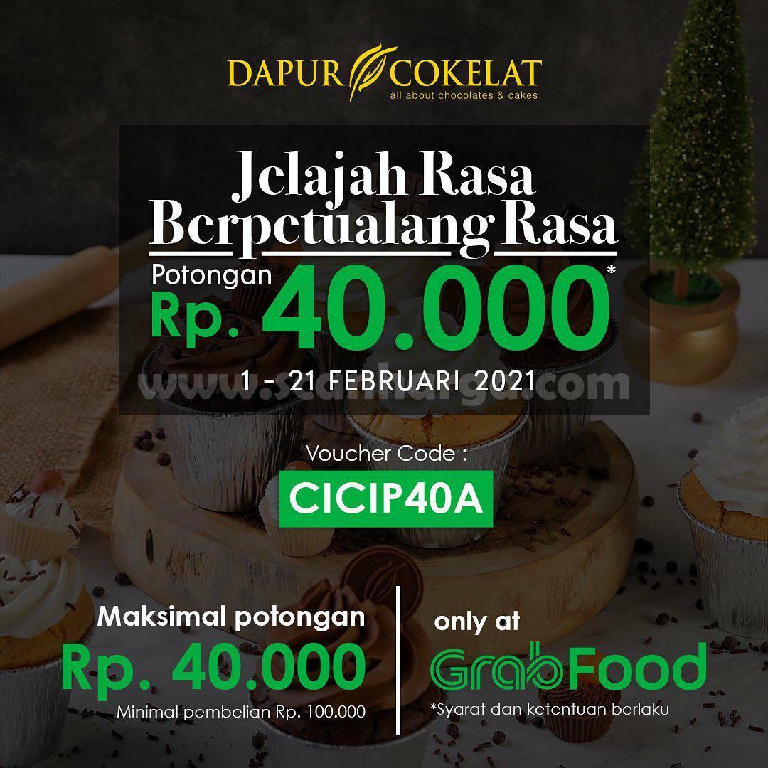 DAPUR COKELAT Promo GRABFOOD! DISKON Spesial hingga Rp 40.000