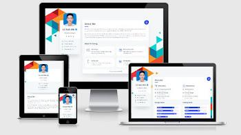 Share Template Giới Thiệu Bản Thân Phiên Bản Mới Tuyệt Đẹp - Version 7 | CV Card Online (Light Mode)