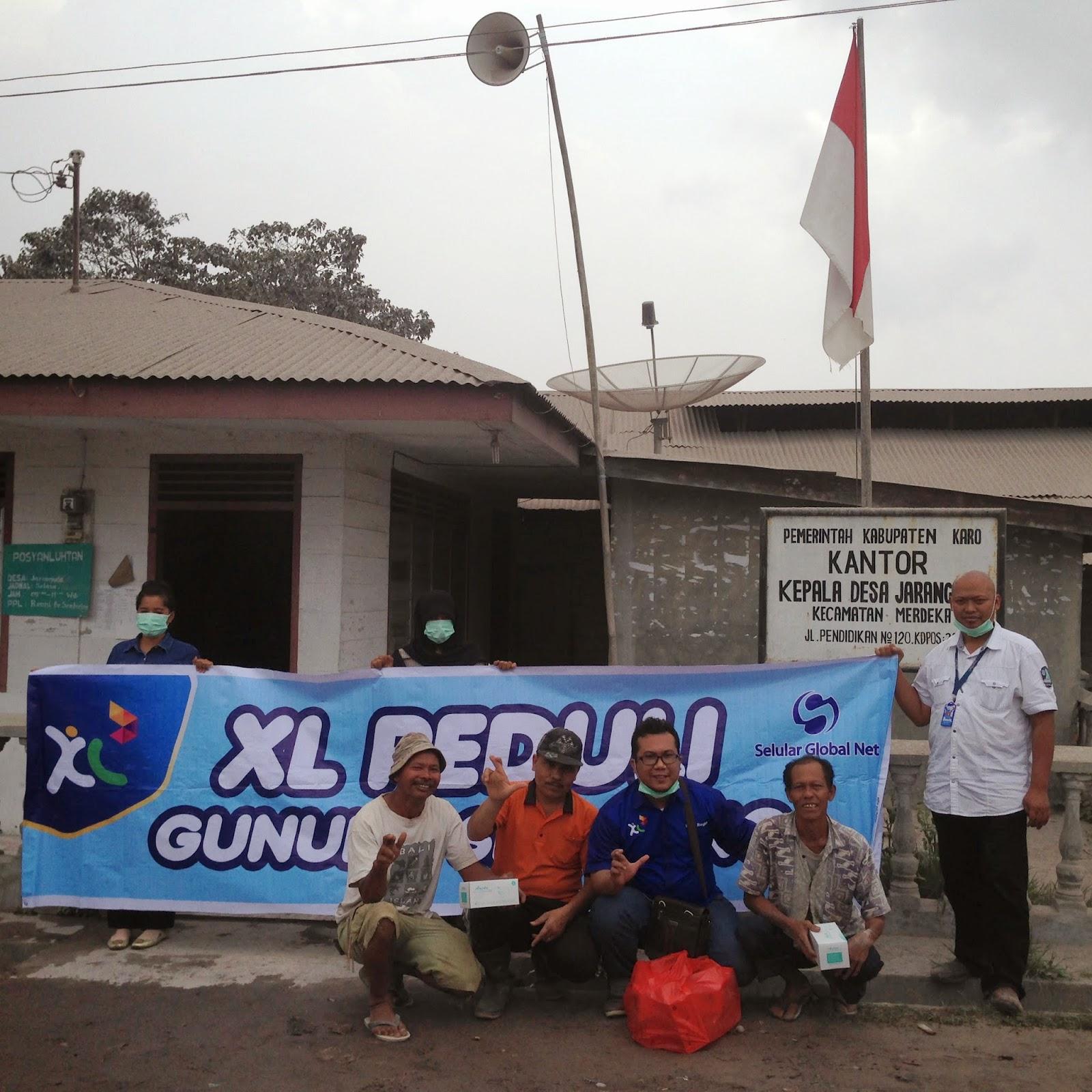 Erupsi Gunung Sinabung XL Pastikan Jaringan Tidak Terganggu