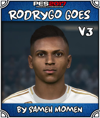 PES 2017 Rodrygo Goes Face by Sameh Momen
