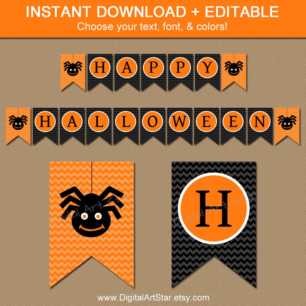 photograph regarding Happy Halloween Banner Printable named Electronic Artwork Star: Printable Social gathering Decor: Halloween Printable