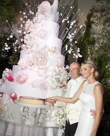 Bolo2 - Casamento Real - Principe Alberto ♥ Charlene Wittstock