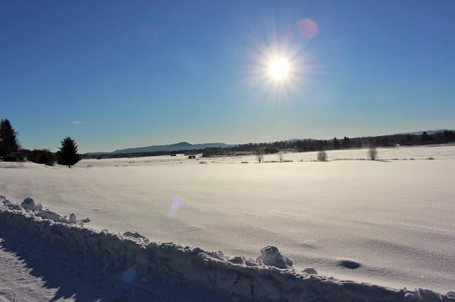 #hälsingland #snö #himmel #sol #vinter